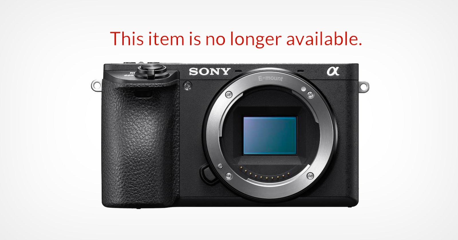 Sony Has Discontinued the a6500 Mirrorless Camera