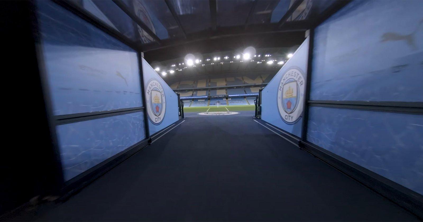 Stunning Single-Shot FPV Drone Tour of Manchester City's Etihad Stadium