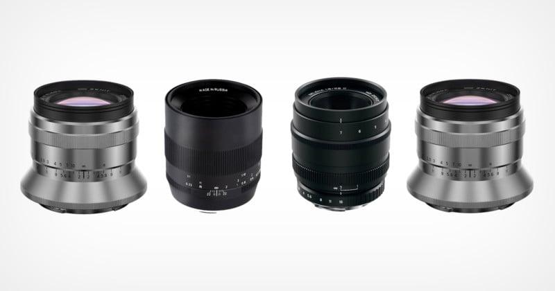 Zenit Unveils Four Full-Frame Manual Prime Lenses For Multiple Mounts