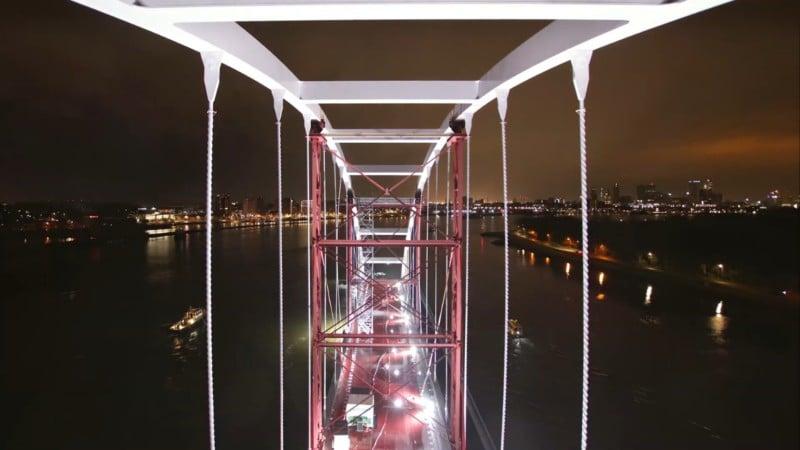 Timelapse Film Shows Journey of a Bridge Traveling Through Rotterdam 1