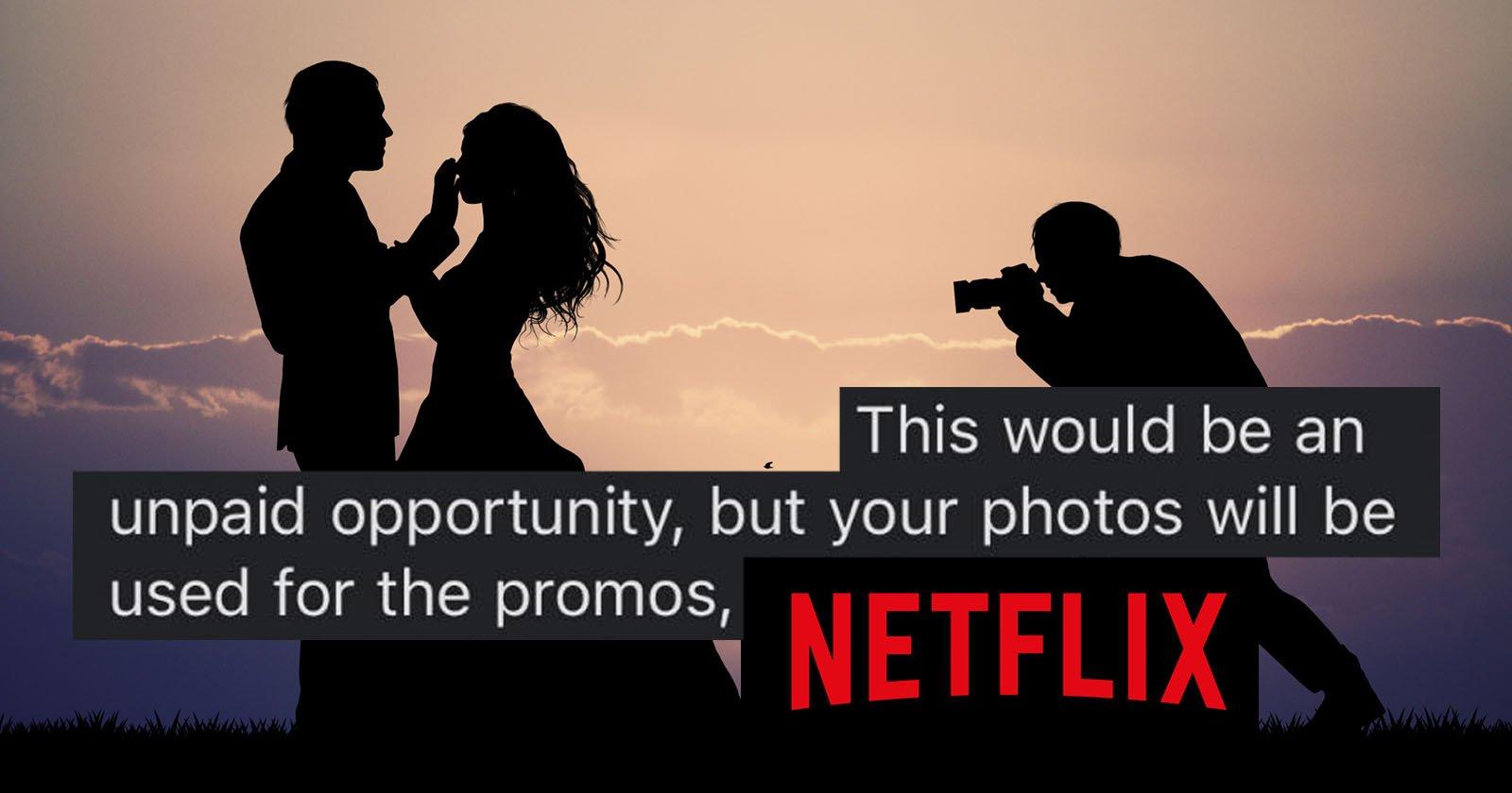 Netflix's 'Love is Blind' Wants Unpaid Photographer for Five Weddings