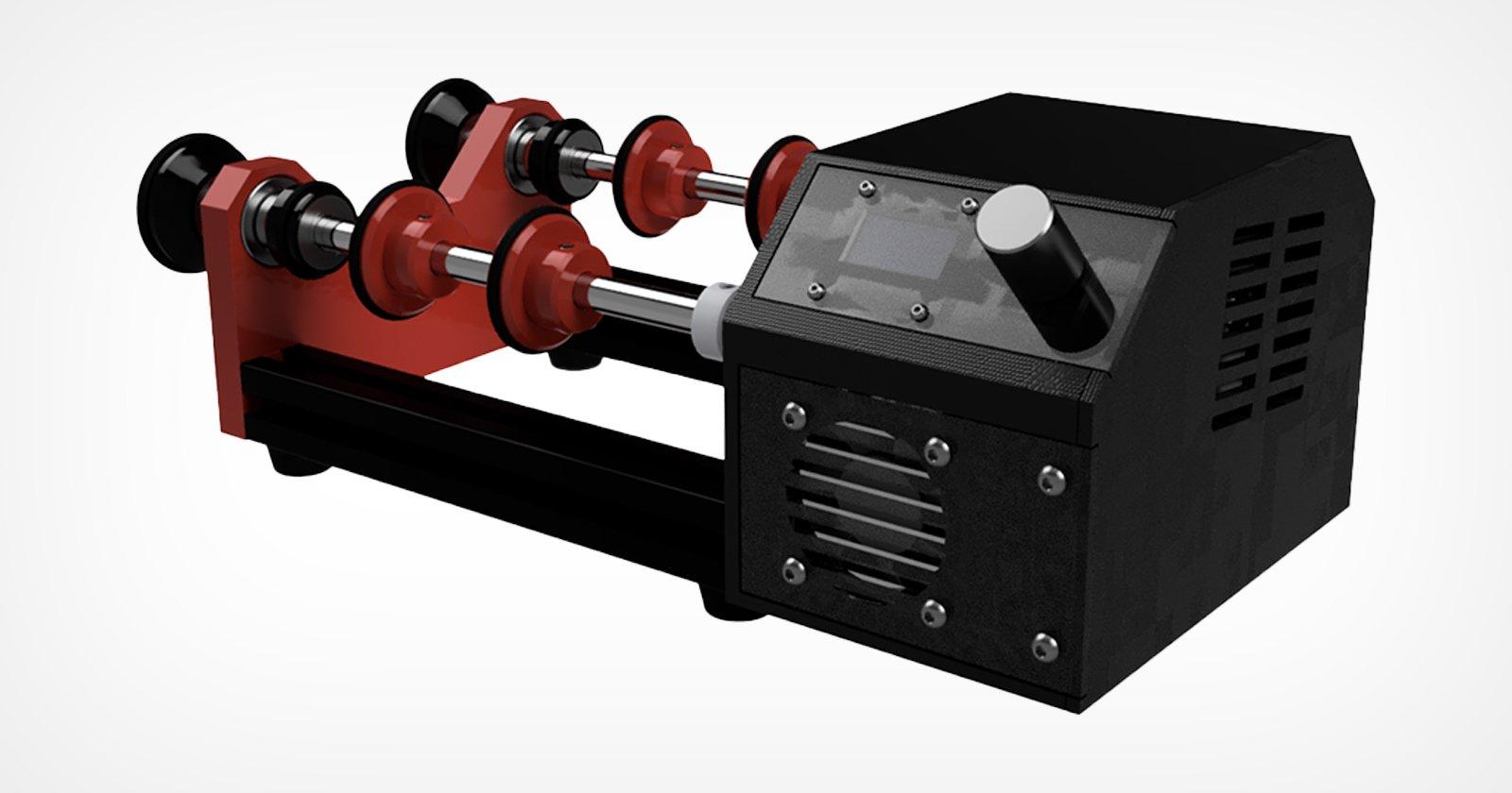 L'Aura è una nuova macchina per lo sviluppo di film rotativi assistiti