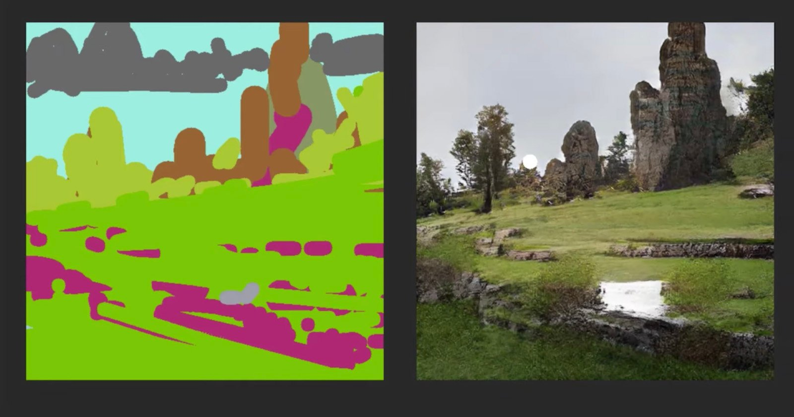 NVIDIA Canvas Uses AI to Turn Your Doodles into 'Photos'