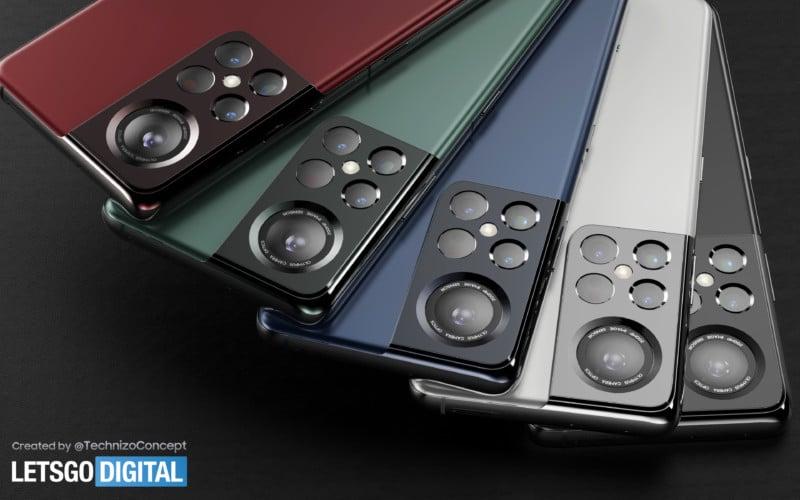 Render of Samsung Galaxy S22 Renews Olympus Partnership Speculation 9