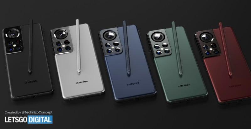Render of Samsung Galaxy S22 Renews Olympus Partnership Speculation 11