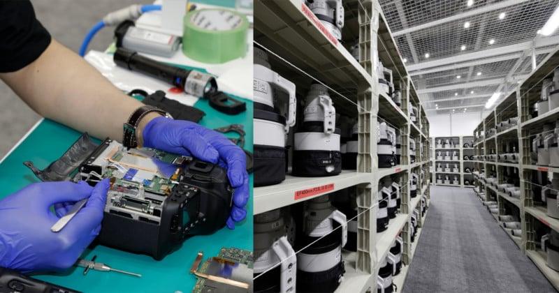 Inside Canon's Impressively Stocked Olympic Pro Camera Service Facility 10