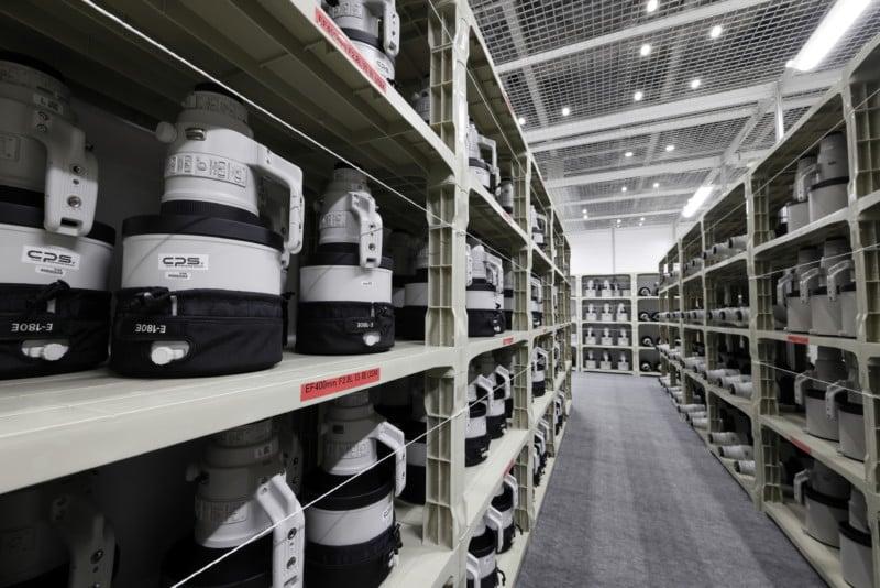 Inside Canon's Impressively Stocked Olympic Pro Camera Service Facility 15