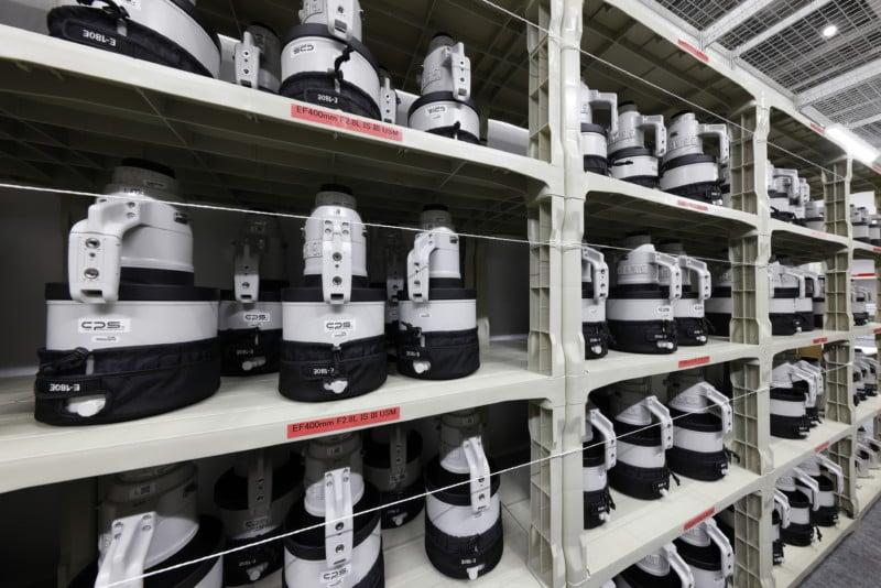 Inside Canon's Impressively Stocked Olympic Pro Camera Service Facility 16