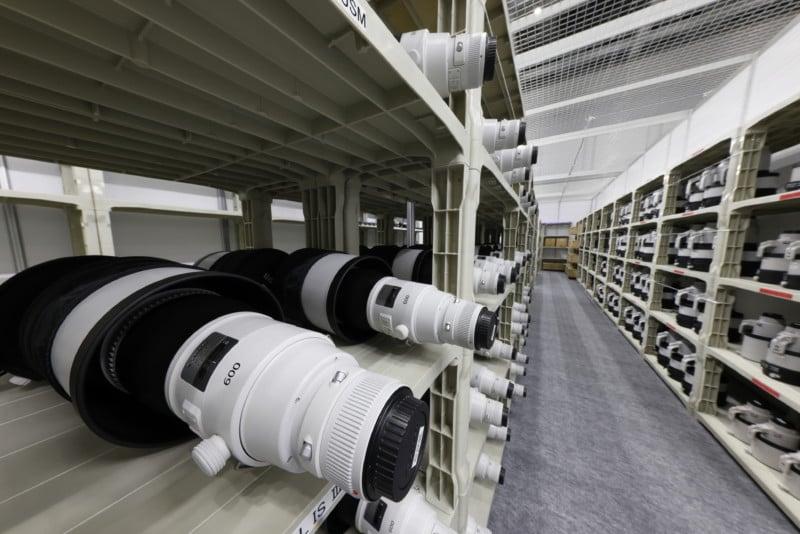 Inside Canon's Impressively Stocked Olympic Pro Camera Service Facility 17