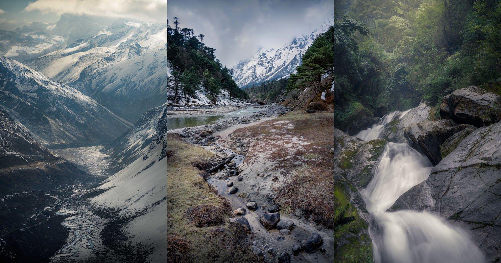 Caccia al paesaggio a 18.000 piedi: foto del nord Sikkim, India
