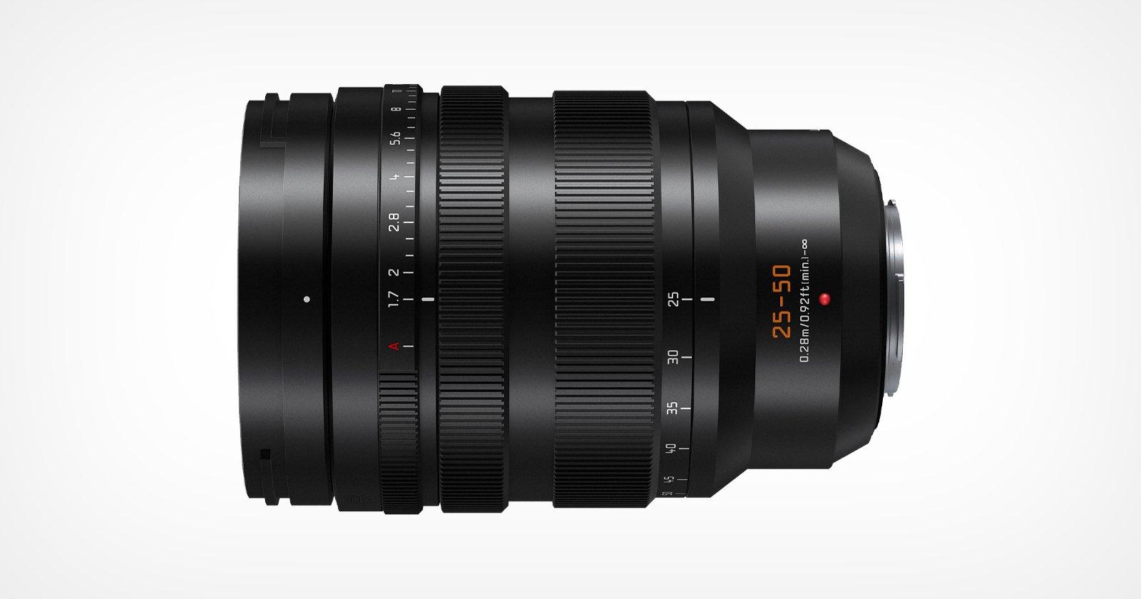 Panasonic presenta il Leica DG Vario-Summilux 25-50mm f/1.7 per M43