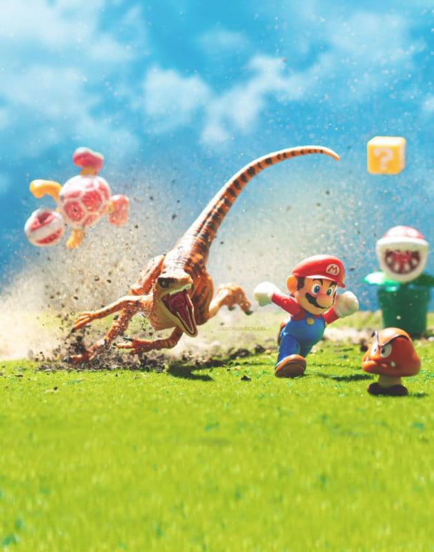 Fotógrafo combina juguetes icónicos y acción con resultados escandalosos - Mario