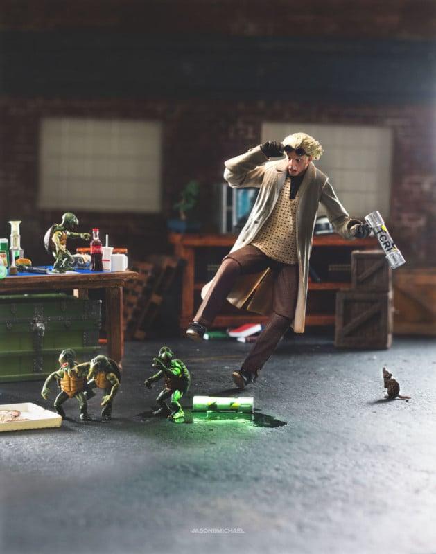 Fotógrafo combina juguetes icónicos y acción con resultados escandalosos - volver al futuro