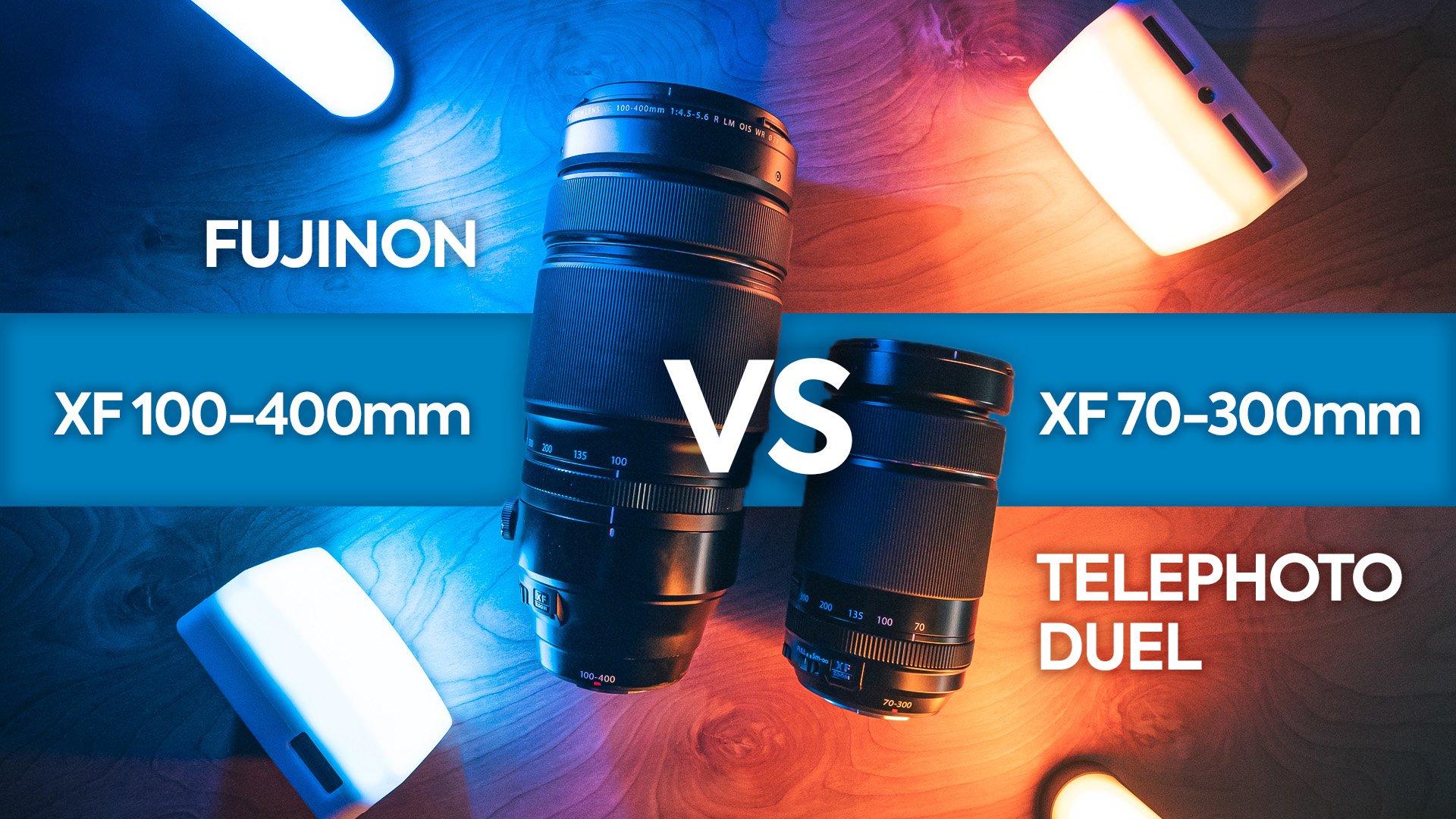 Confronto tra teleobiettivi Fujinon XF 100-400 mm e XF 70-300 mm