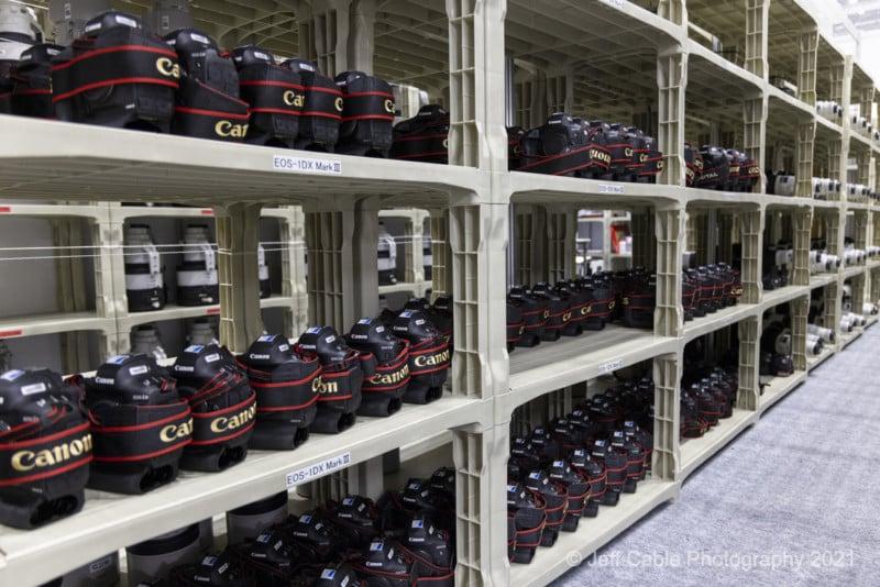 Inside Canon's Impressively Stocked Olympic Pro Camera Service Facility 18