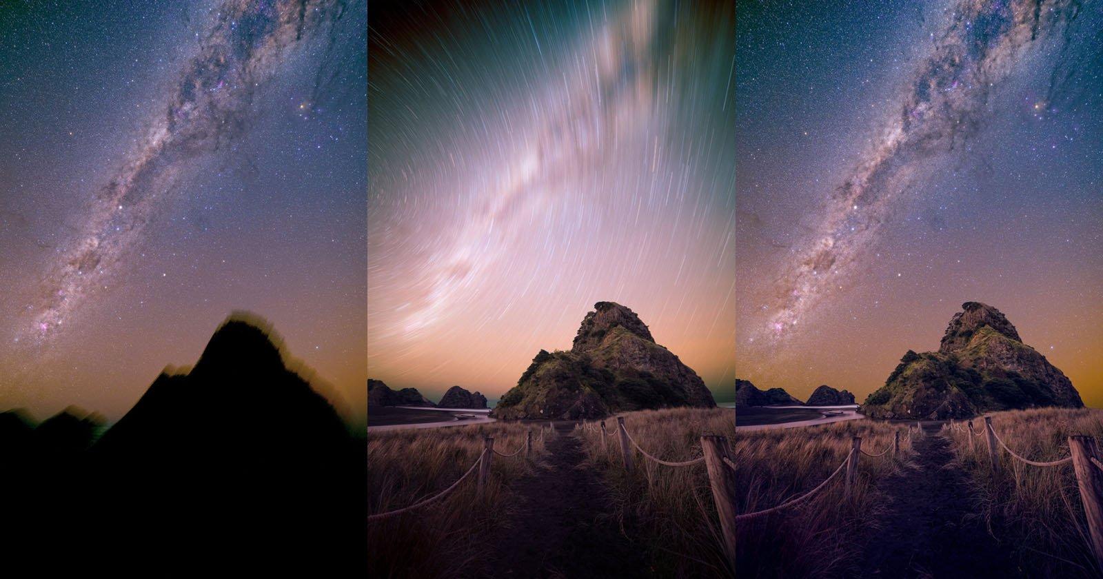Fotografare la Via Lattea su Lion Rock a Piha, Nuova Zelanda