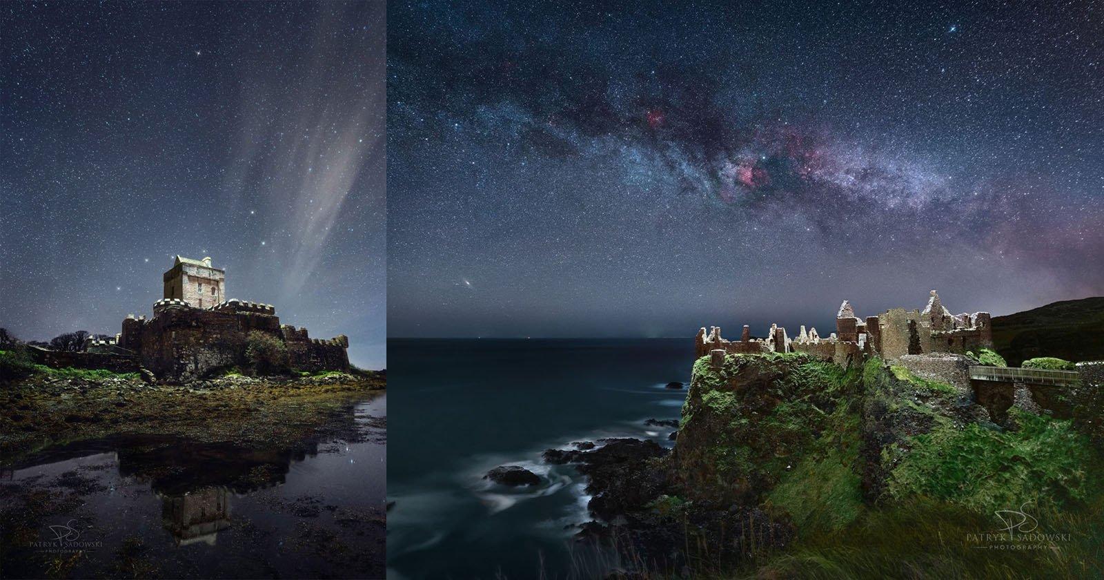 Questo fotografo dipinge paesaggi di notte con la luce di un drone