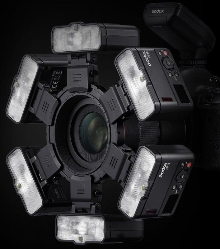 New Godox Macro Flash MF12 Can Combine Six Times Around a Lens 76