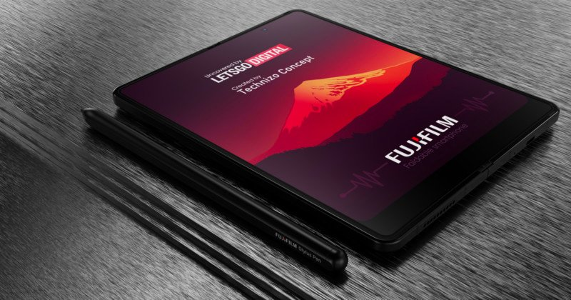Fujifilm Designs a Foldable Smartphone with a Stylus Pen