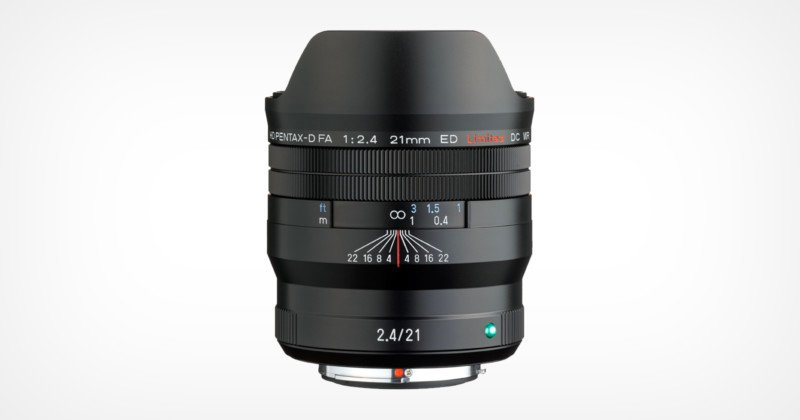 Ricoh Launches the Pentax FA 21mm f/2.4ED Limited DC WR Lens