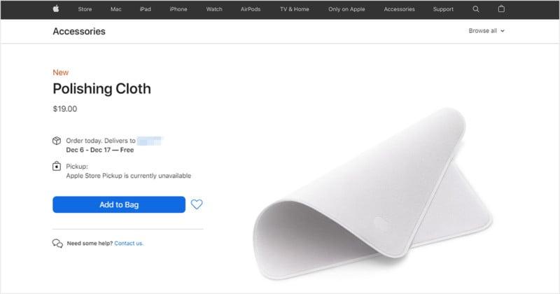 Apple is Selling a $19 Polishing Cloth