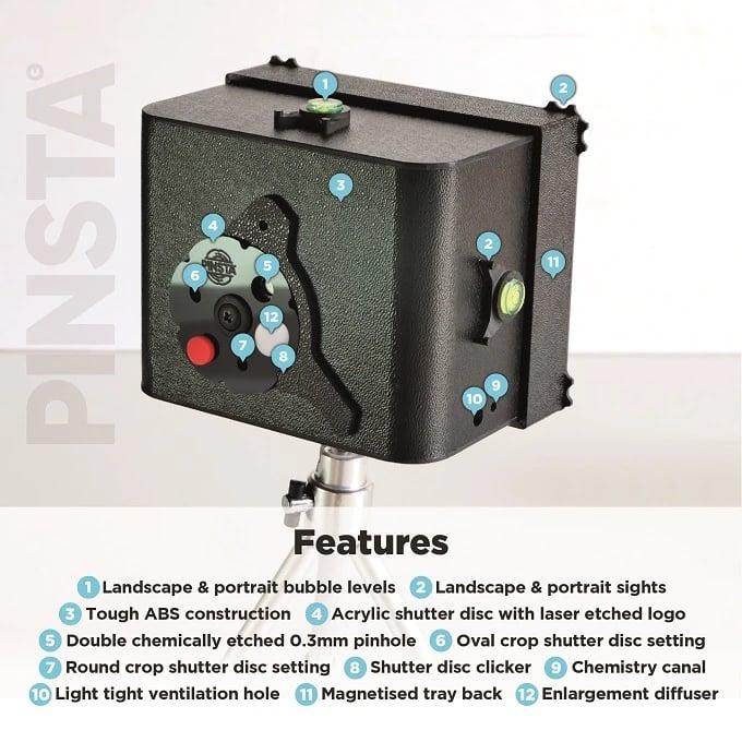 Pinsta Instant Camera: An Analog Micro Darkroom and Negative Enlarger 2
