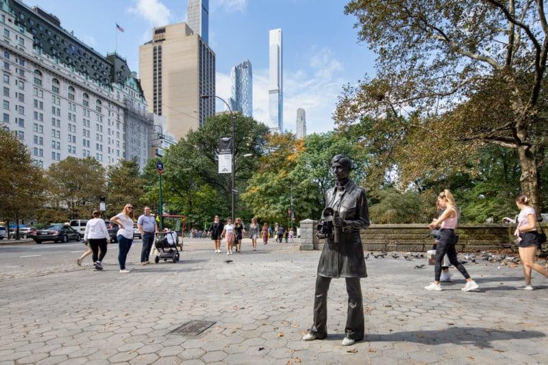 Statue of Legendary Photographer Diane Arbus Erected in Central Park